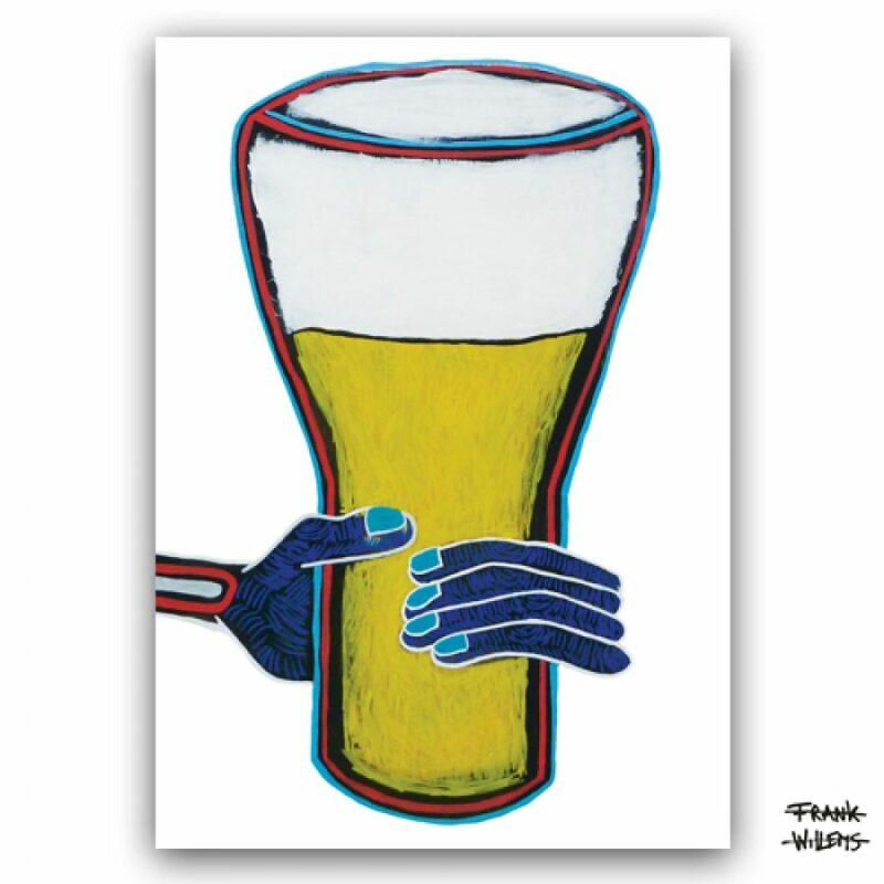 ART CARD ///  JUST DRINKING BEER INSTEAD