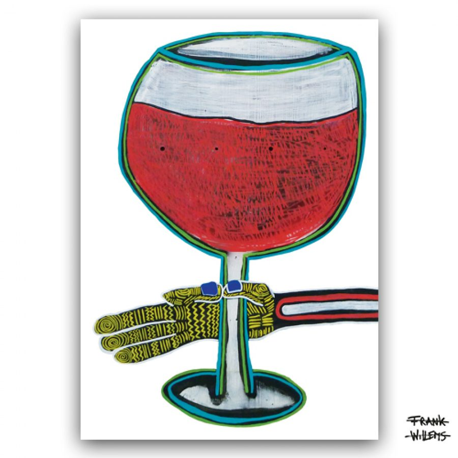 KAART - NO RED WINE NOW SHE´S GONE - Frank Willems