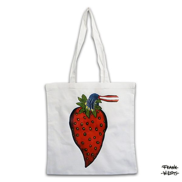 KATOENEN TAS - YUMMY STRAWBERRY - Frank Willems