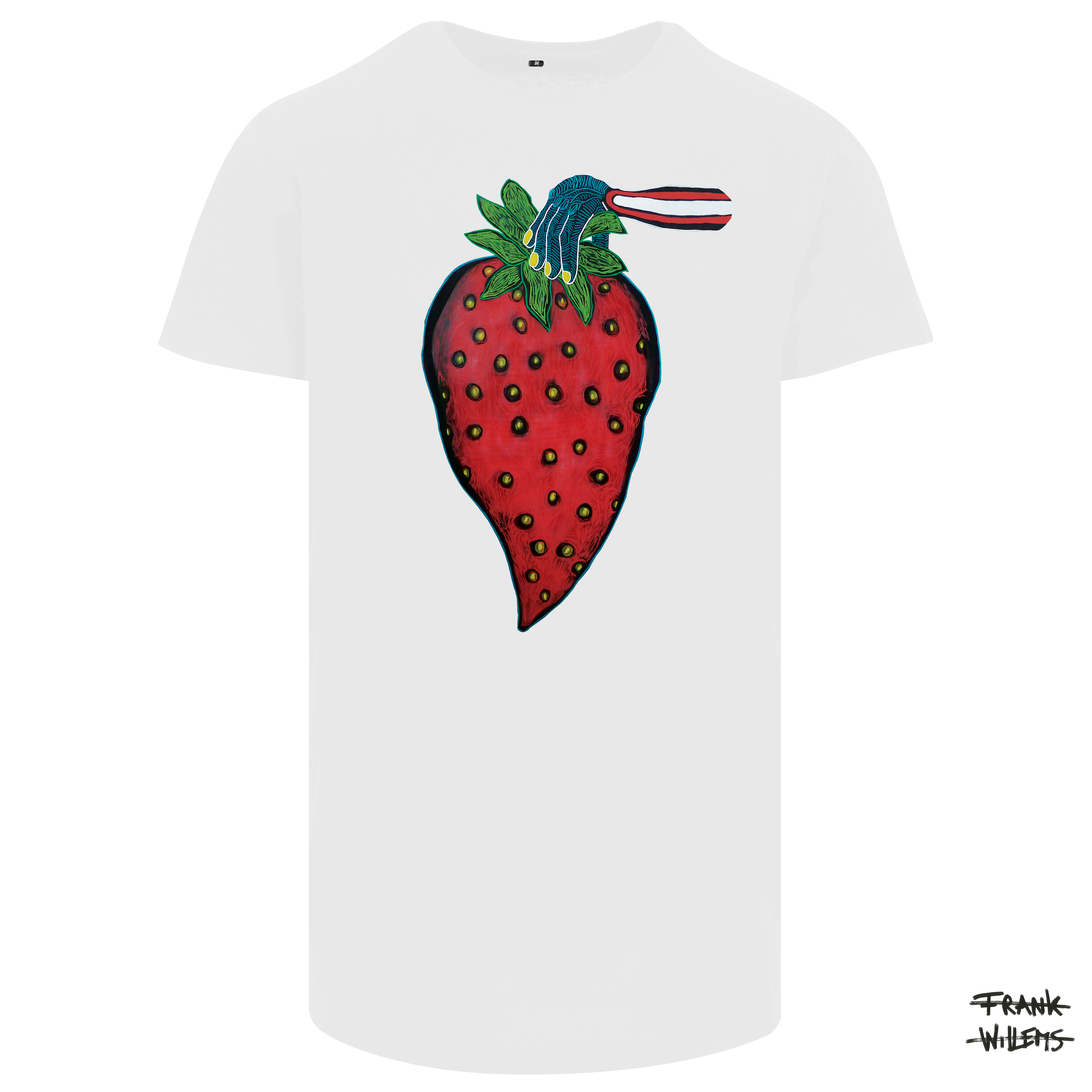 T-shirt YUMMY STRAWBERRY wht 17 - Frank Willems