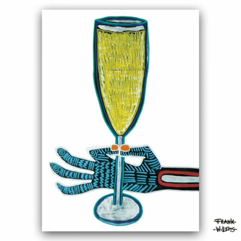 ART CARD ///  RAISE YOUR GLASS
