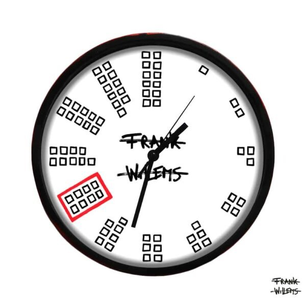 Clock - COUNTING TEETH - LARGE - Frank Willems