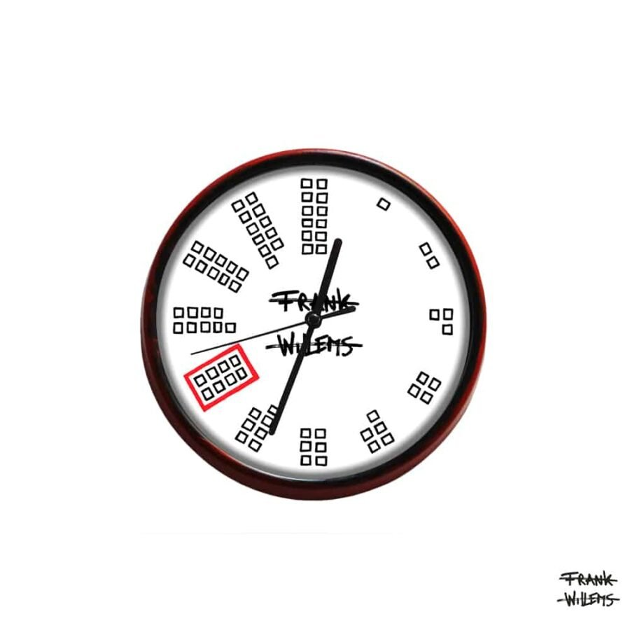 Clock - COUNTING TEETH - SMALL - Frank Willems