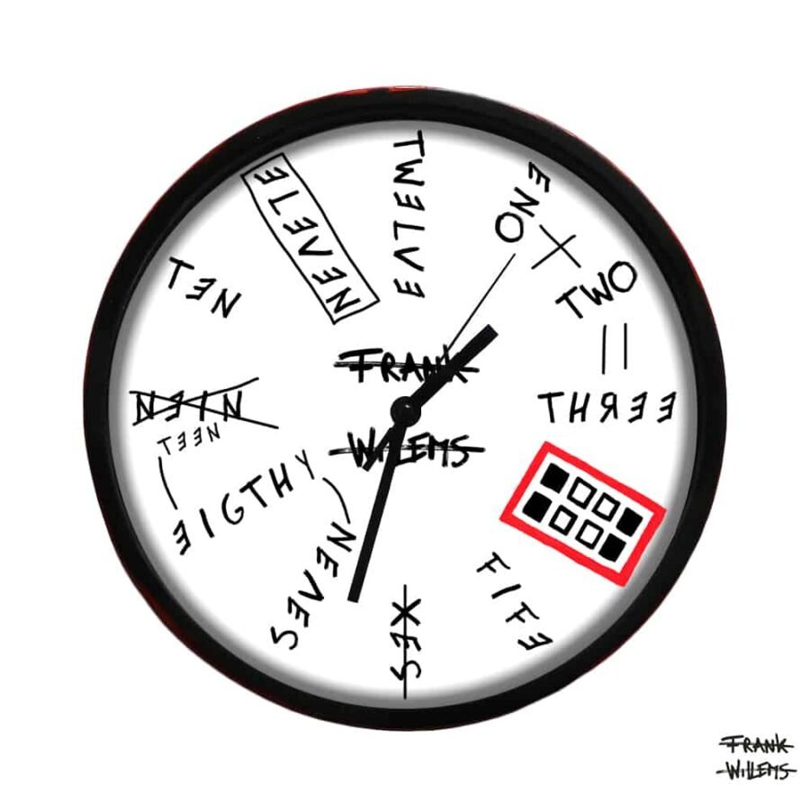 Clock - NINETEENEIGHTYSEVEN - LARGE - Frank Willems