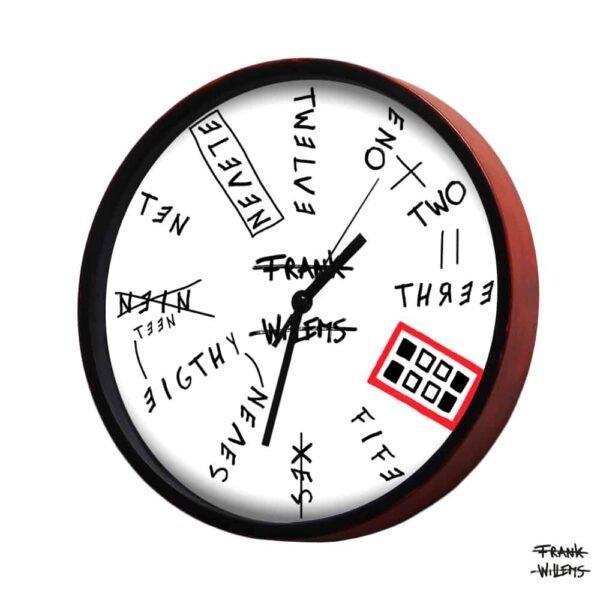 Clock - NINETEENEIGHTYSEVEN - LARGE - Frank Willems