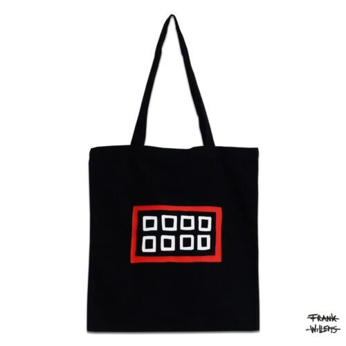 KATOENEN TAS - MOUTH BAG (BLK) - Frank Willems