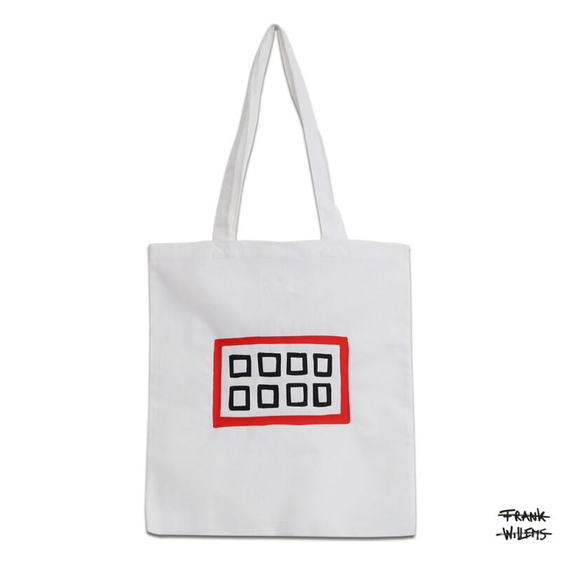 KATOENEN TAS - MOUTH BAG (WHT) - Frank Willems