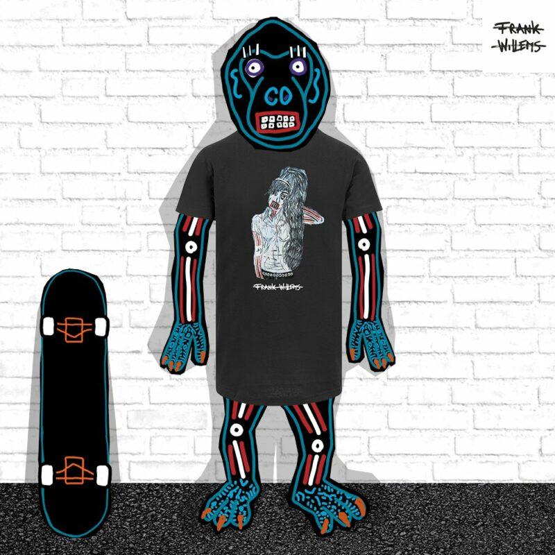EL MONO MODEL - tshirt AMY blk - Frank Willems