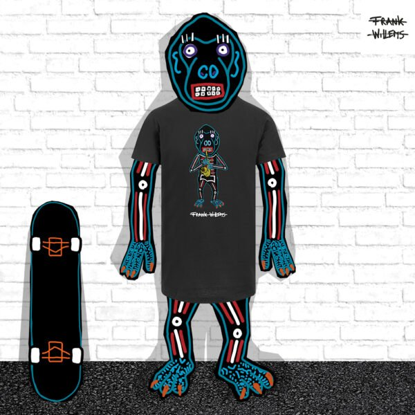 EL MONO MODEL - tshirt EL MONO SAXOFONISTA blk - Frank Willems