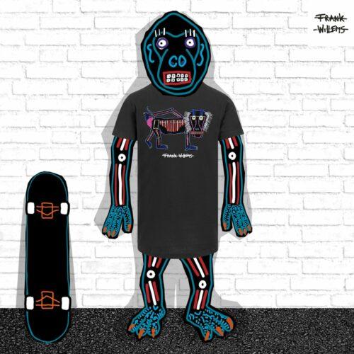 EL MONO MODEL - tshirt MY ITCHY MONKEY ARSE blk - Frank Willems