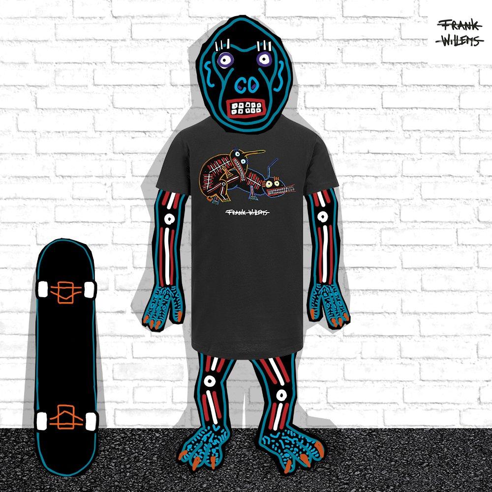 EL MONO MODEL - tshirt NO STRINGS ATTACHED blk - Frank Willems