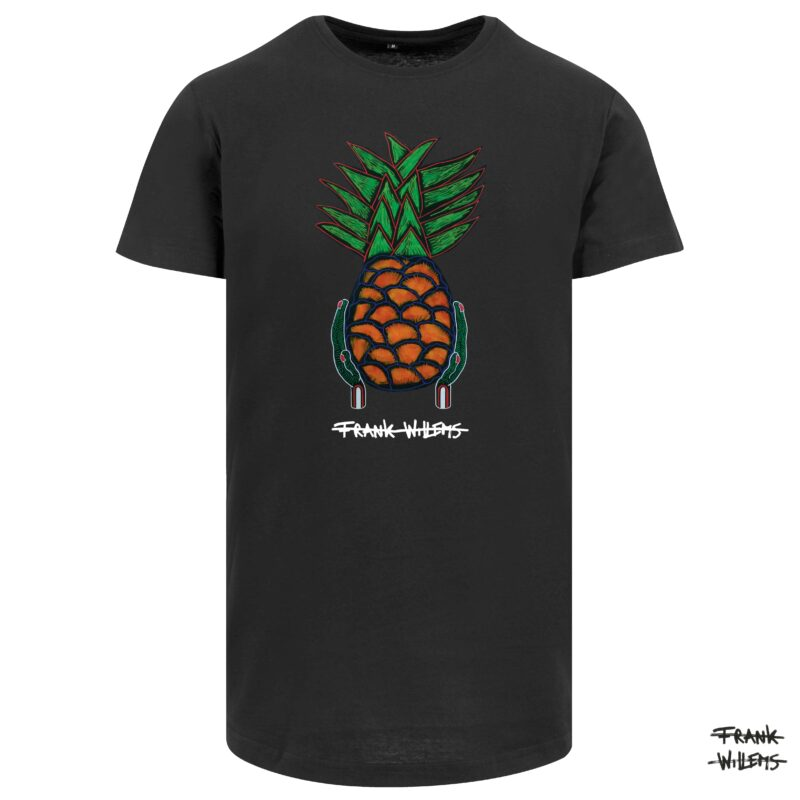 Tshirt YUMMY PINEAPPLE blk - Frank Willems