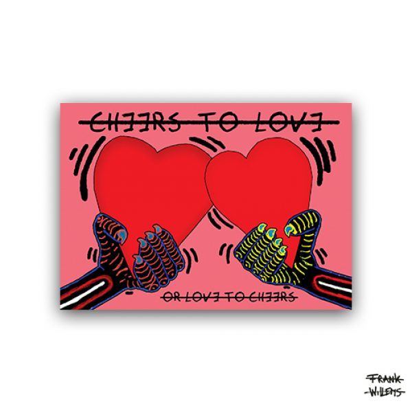 CHEERS TO LOVE (couple) - ansichtkaart A6 - Frank Willems