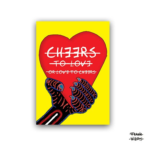 CHEERS TO LOVE (single) - ansichtkaart A6 - Frank Willems