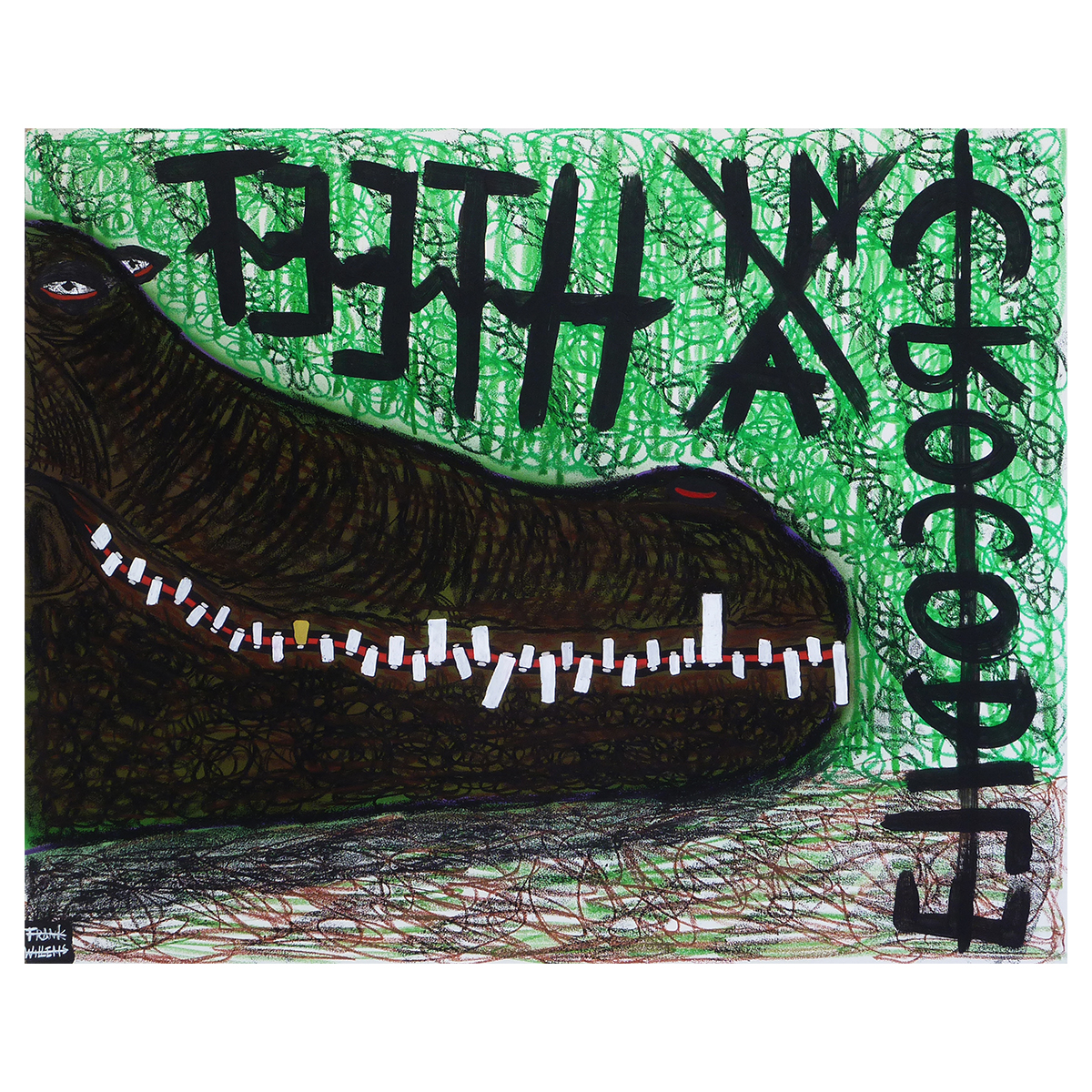 TEETH IN A CROCODILE - Frank Willems