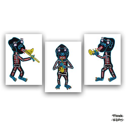 EL MONO TRIO - ART CARDS PACKAGE - Frank Willems