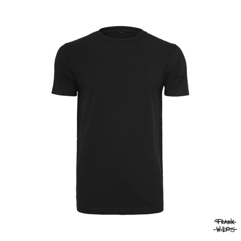 ONE AND ONE MAKES TWO - T-shirt MEN front BLK - BLACK - Frank Willems