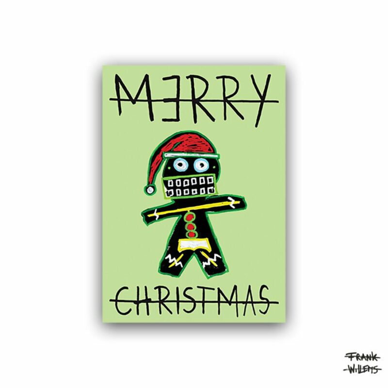 CHRISTMAS CARD /// GINGERBREAD MAN /// GREEN