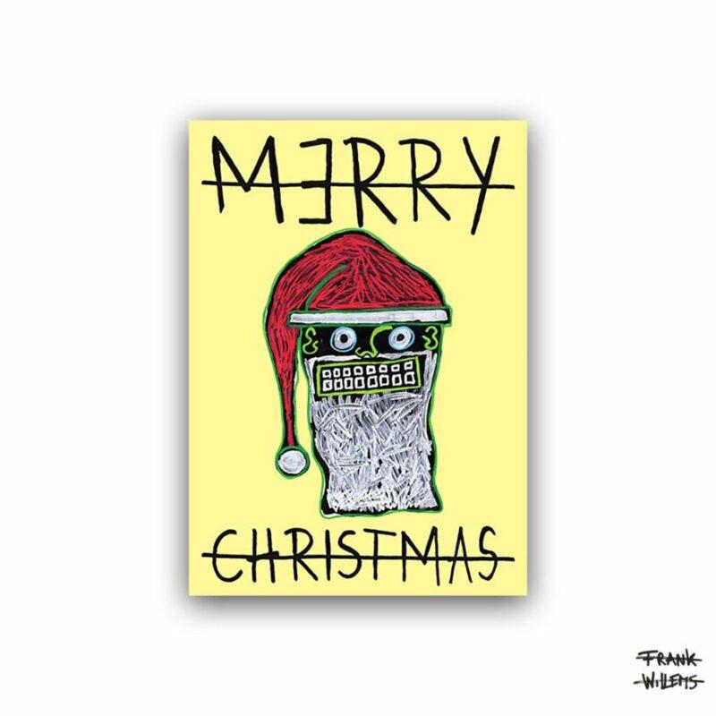 CHRISTMAS CARD /// SANTA CLAUS /// YELLOW
