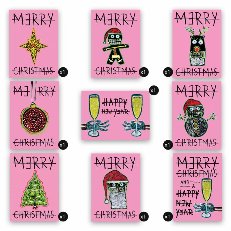 CHRISTMAS CARDS /// PACKAGE 9 *PINK EDITION*