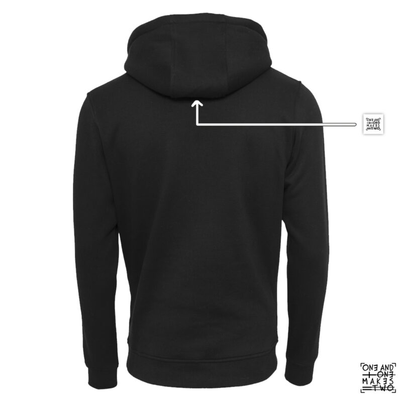 ONE AND ONE MAKES TWO - hoodie back - BLK - Frank Willems
