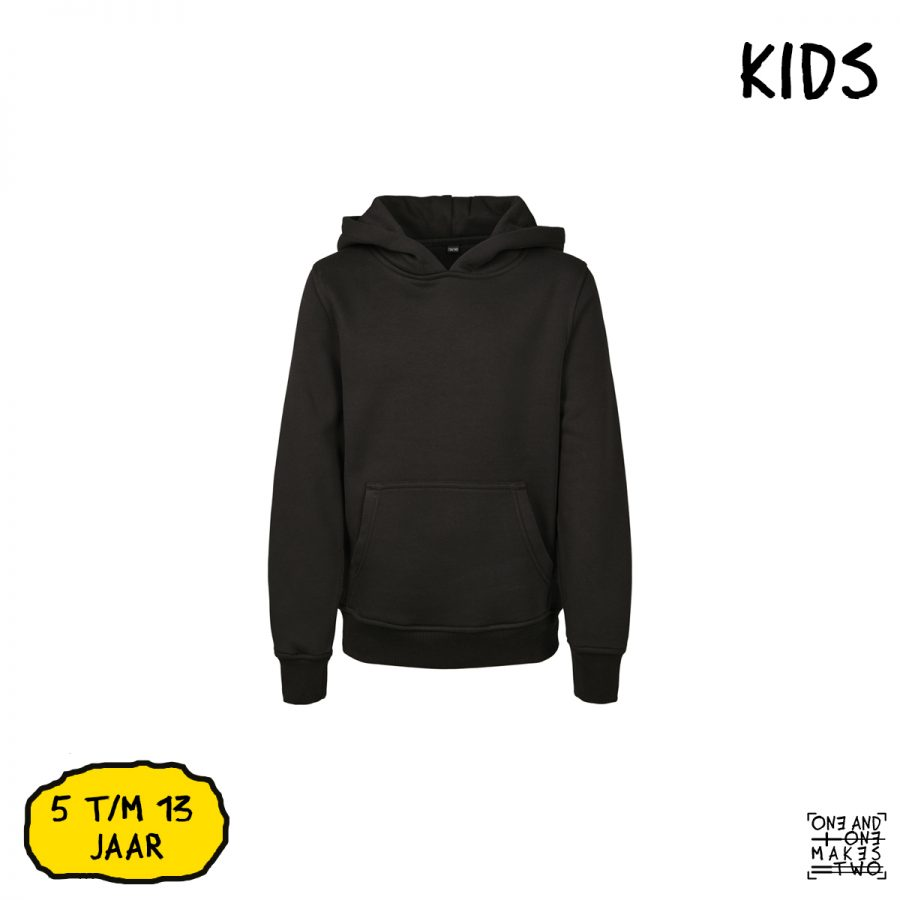 ONE AND ONE MAKES TWO - hoodie kids - BLK - Frank Willems