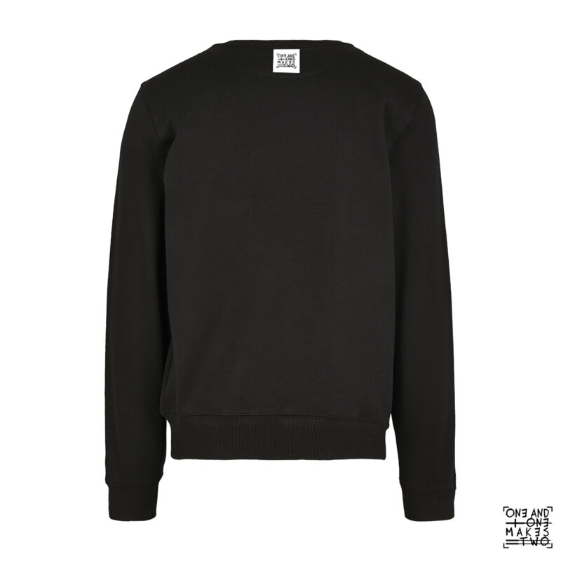 ONE AND ONE MAKES TWO - sweater back - BLK - Frank Willems