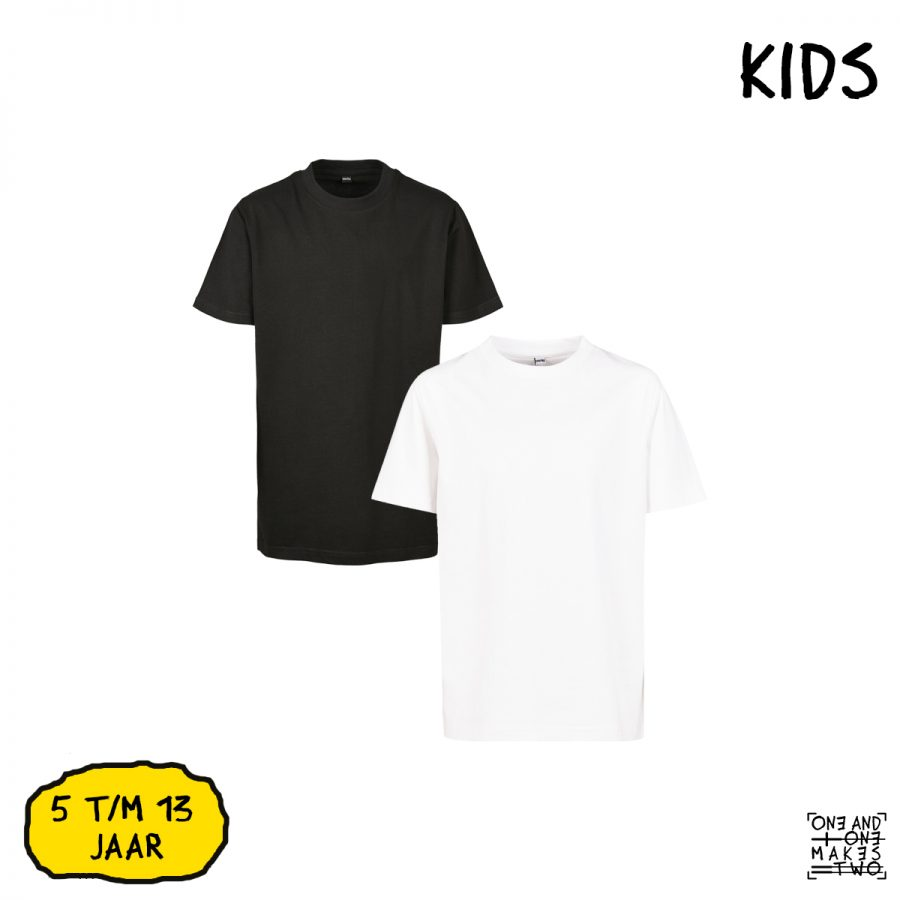 ONE AND ONE MAKES TWO - T-shirt Kids - BLK or WHT - Frank Willems