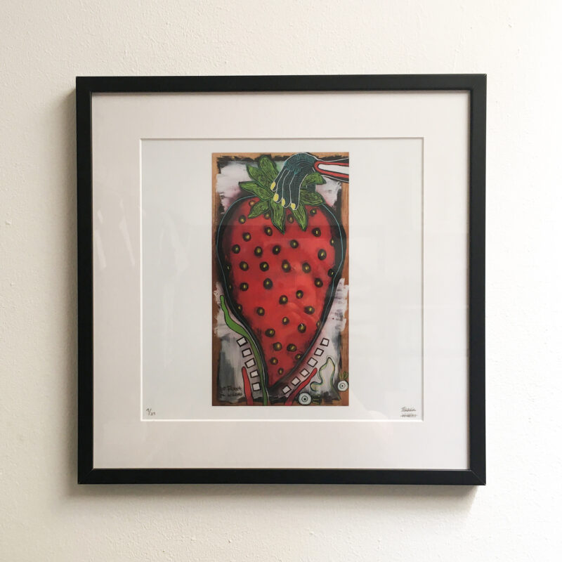 Limited Edt Art Print - YUMMY STRAWBERRY 01 - Frank Willems