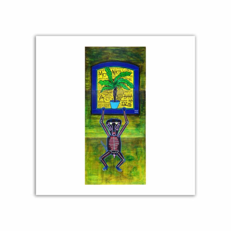 LIMITED EDT. ART PRINT - MONKEY AT BANANA TREE