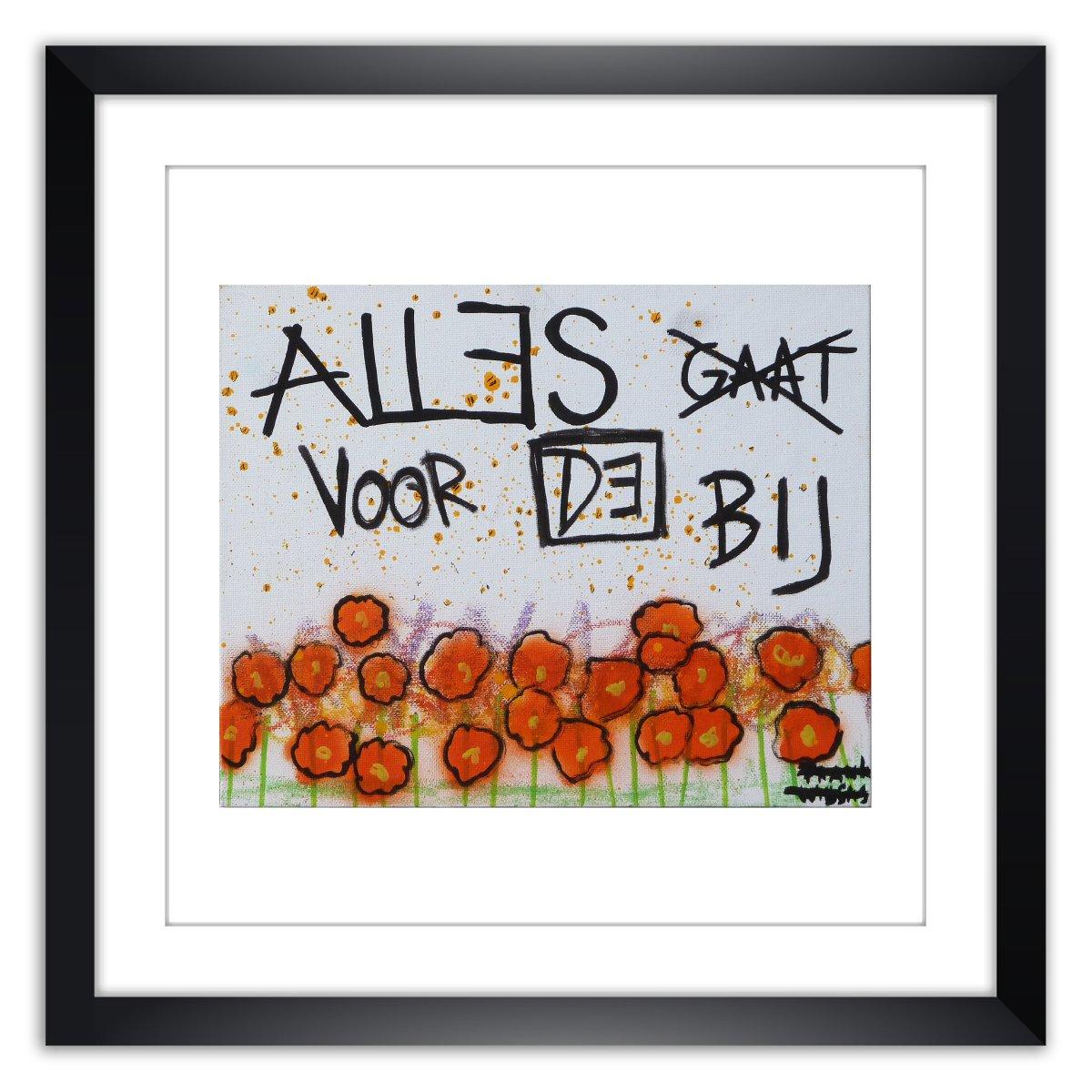 Limited prints - ALLES GAAT VOORBIJ framed - Frank Willems