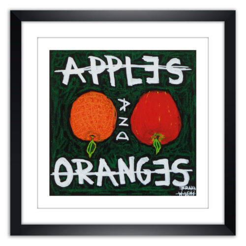 Limited prints - APPLES AND ORANGES framed - Frank Willems