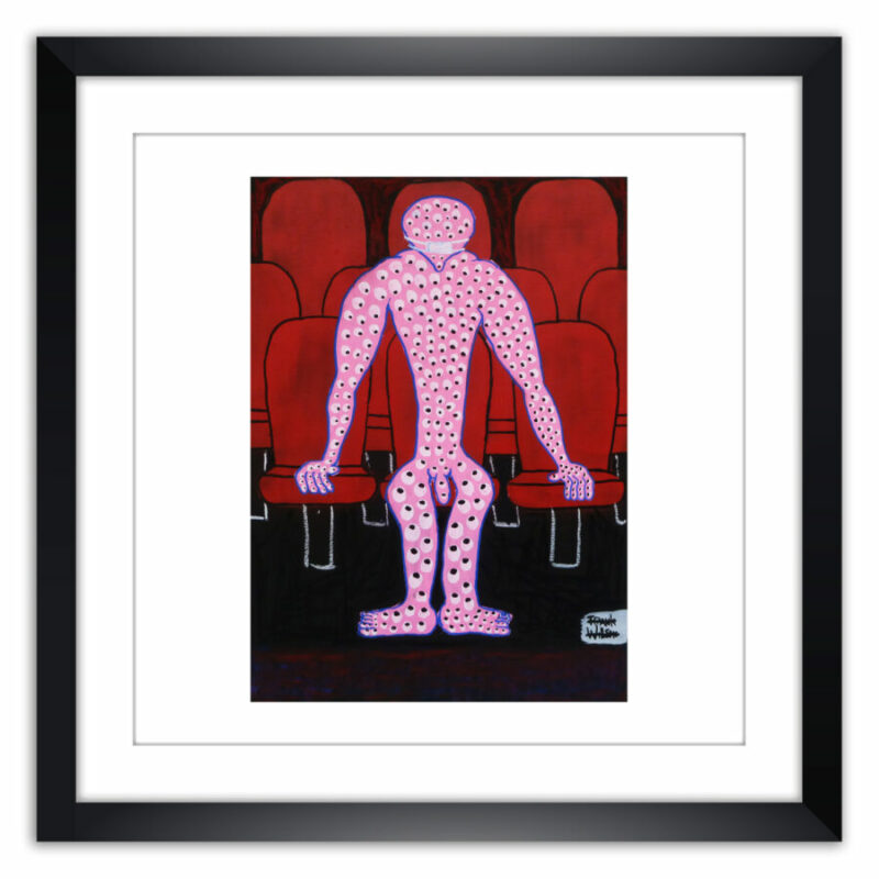 Limited prints - ARGUS IN THE CINEMA framed - Frank Willems