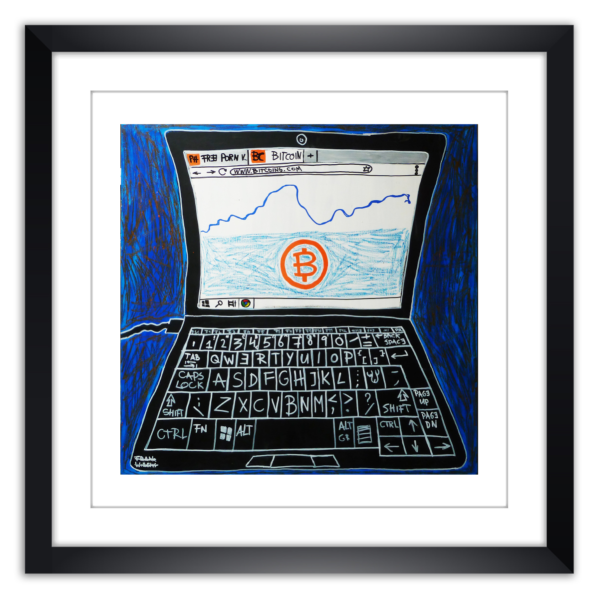 Limited prints - BITCOIN framed - Frank Willems
