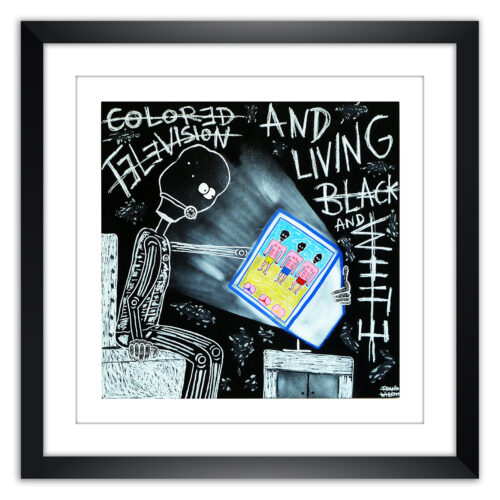 Limited prints - COLORED TELEVISION framed - Frank Willems
