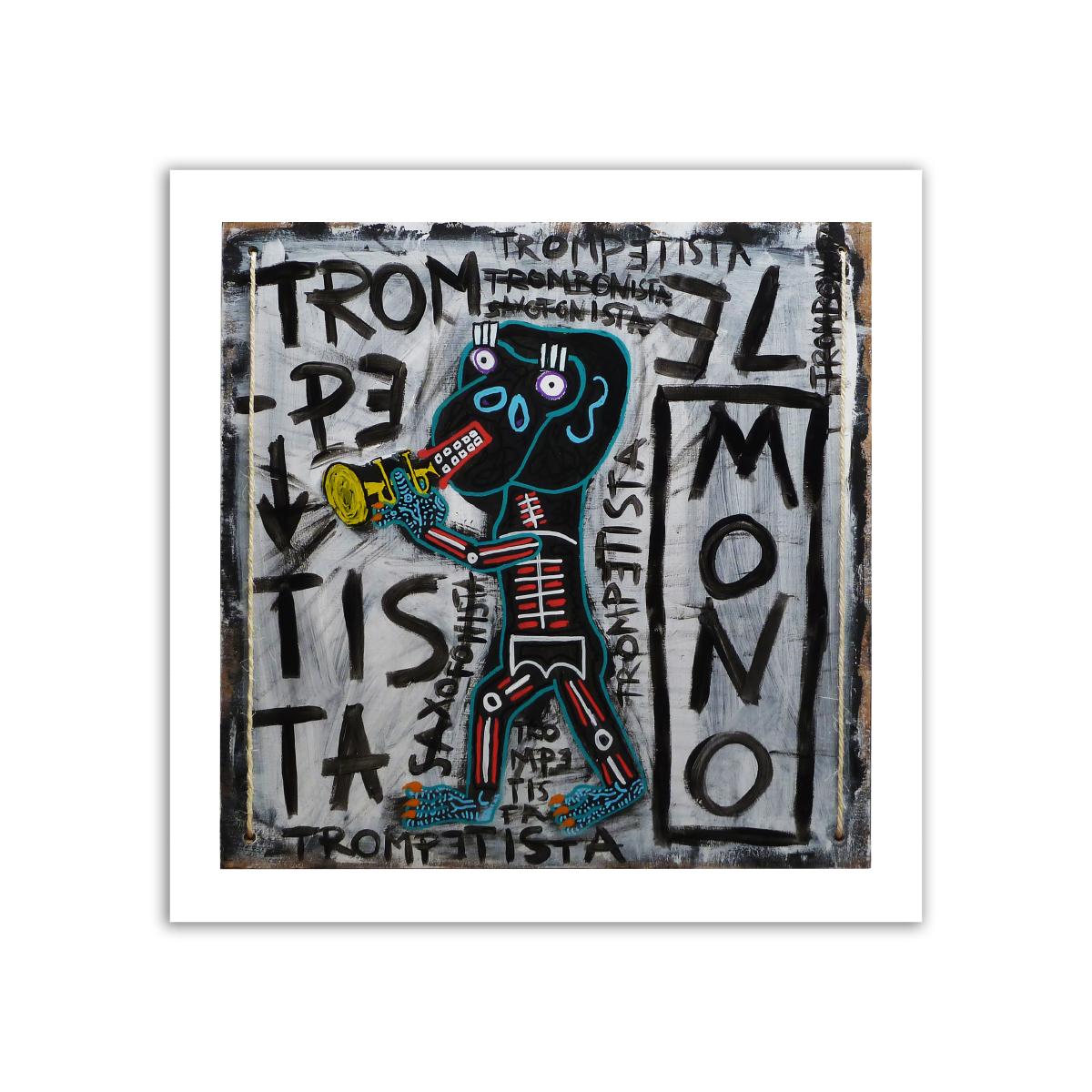 Limited prints - EL MONO TROMPETISTA - Frank Willems