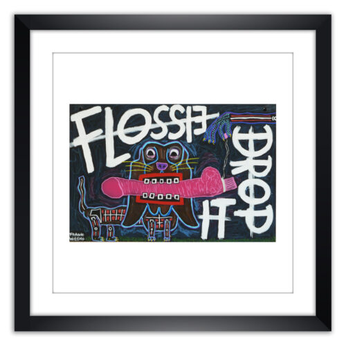 Limited prints - FLOSSIE, DROP IT! framed - Frank Willems