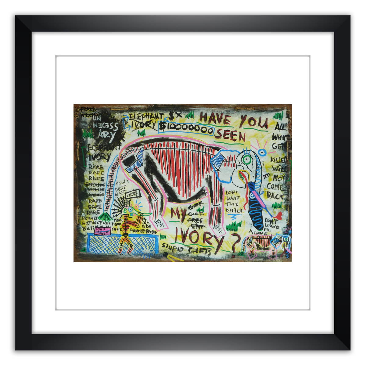 Limited prints - HAVE YOU SEEN MY IVORY framed - Frank Willems