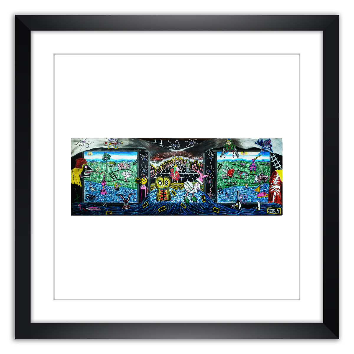 Limited prints - JÉBÉ & THE FMC - GREATEST HITS framed - Frank Willems
