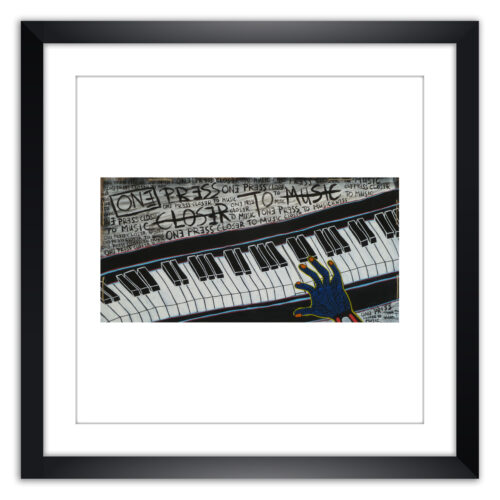 Limited prints - ONE PRESS CLOSER TO MUSIC framed - Frank Willems