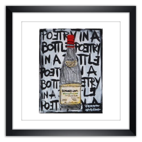 Limited prints - ROMANEE-CONTI - POETRY IN A BOTTLE framed - Frank Willems