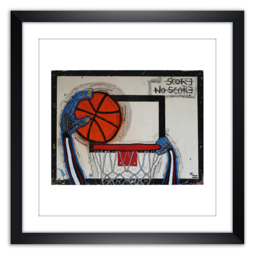 Limited prints - SCORE - NO SCORE framed - Frank Willems