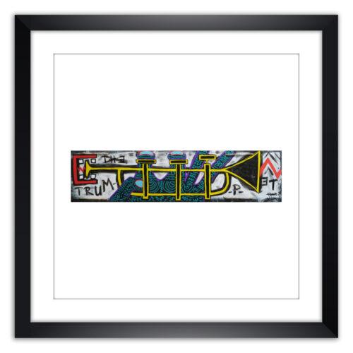Limited prints - THE TRUMPET framed - Frank Willems