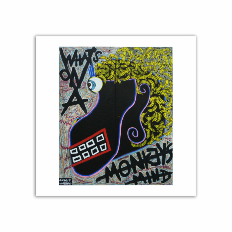 LIMITED EDT. ART PRINT - WHAT'S ON A MONKEY'S MIND