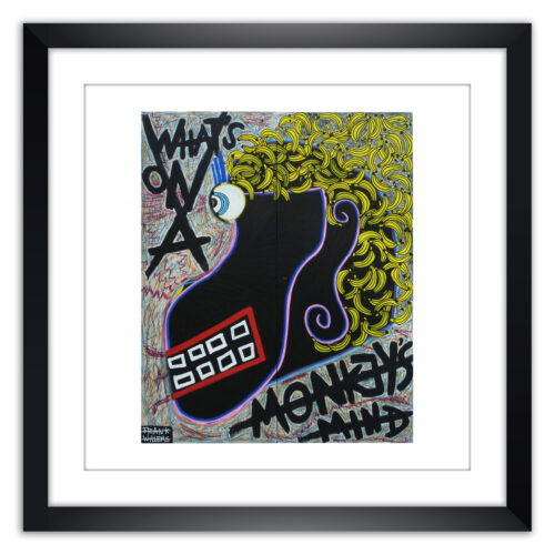 Limited prints - WHAT'S ON A MONKEY'S MIND framed - Frank Willems