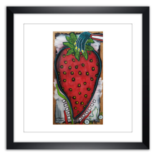 Limited prints - YUMMY STRAWBERRY framed - Frank Willems