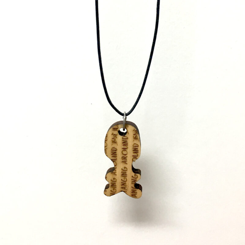 JUST HANGING AROUND - WAXED COTTON CORD NECKLACE - Back - Frank Willems