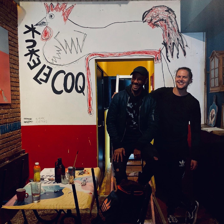 LE COQ ROUGE - Mural De Rooie Haen - 01 - Rogier Roeters x Frank Willems
