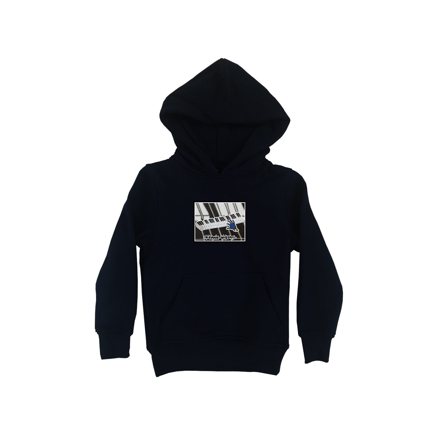 Kids Hoodie black - ONE PRESS CLOSER TO MUSIC - Frank Willems