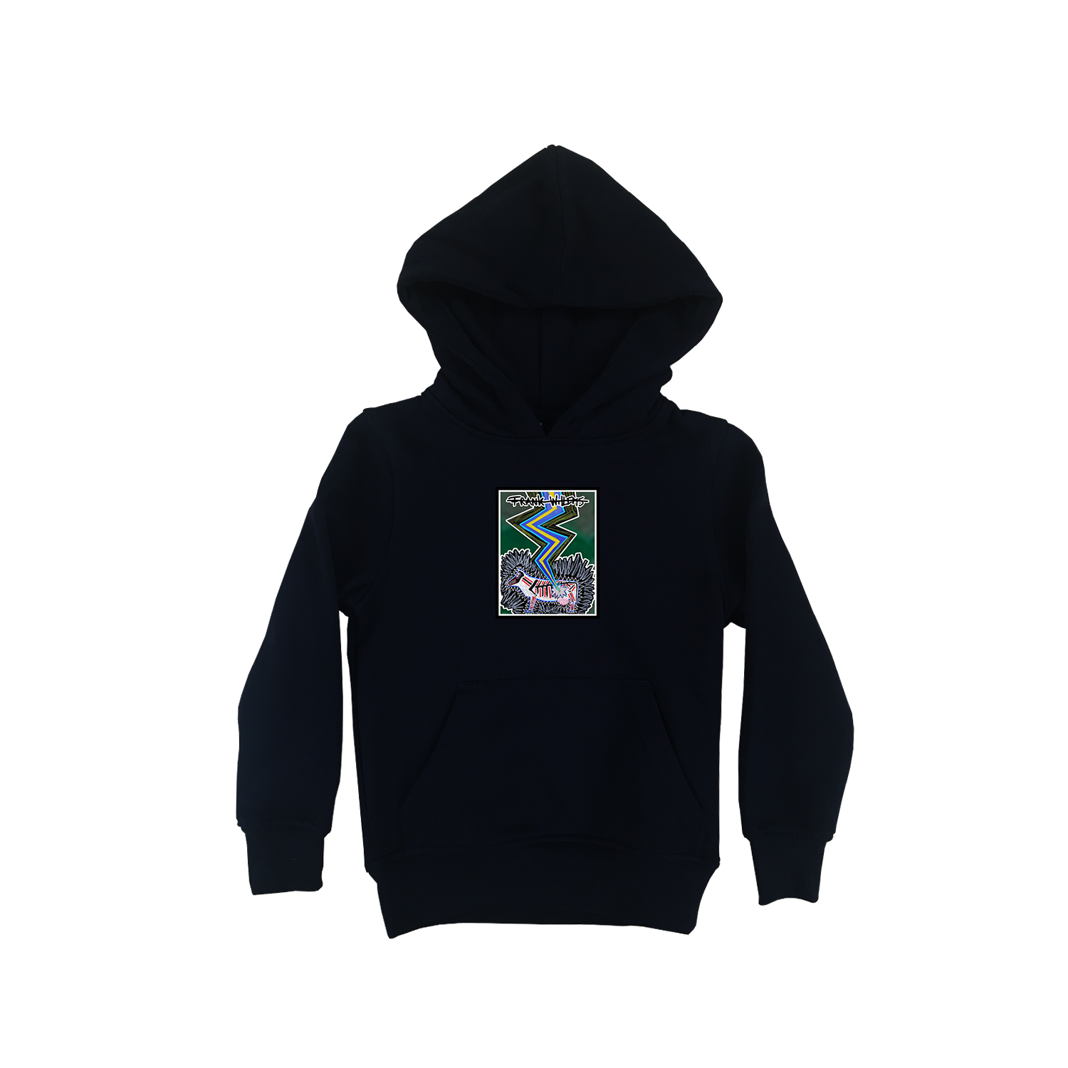 Kids Hoodie black - SILVER COLORED COW - Frank Willems